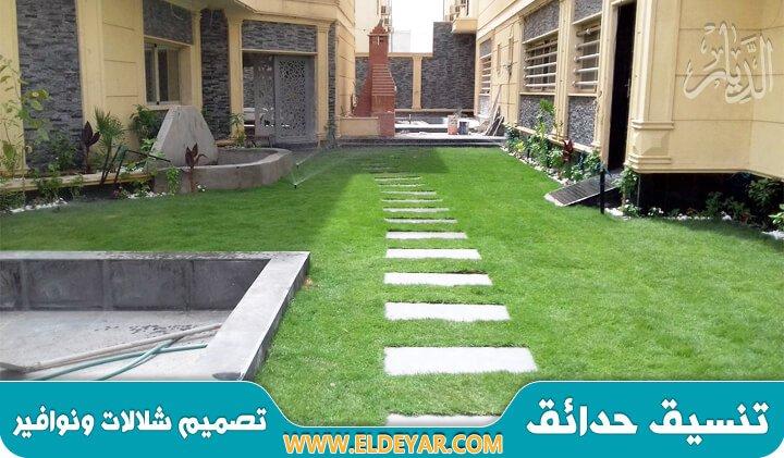 تركيب عشب صناعي بالجبيل على يد افضل منسق حدائق بالجبيل وتصميم شلالات ونوافير بالشرقية